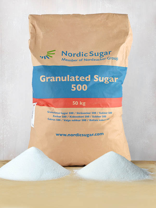 Nordic Sugar Crystal sugar 50kg, HR