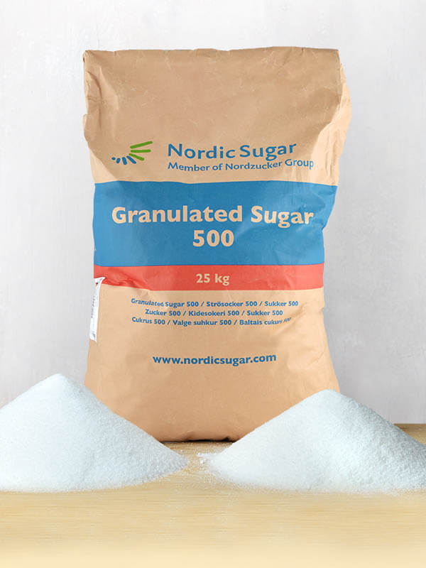 Nordic Sugar Crystal sugar 25kg, HR